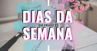 DIAS DA SEMANA EM FRANCÊS