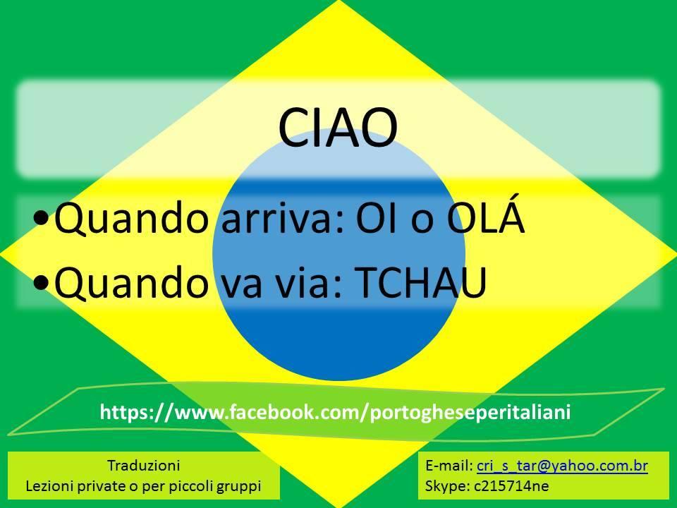 Ciao in portoghese