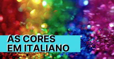 as cores em italiano