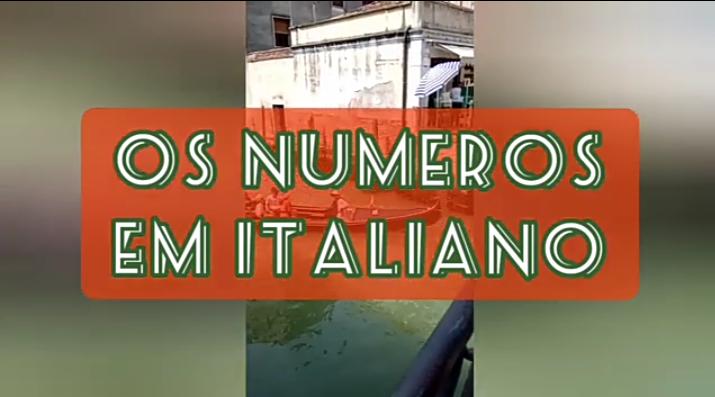 como falar os numeros em italiano
