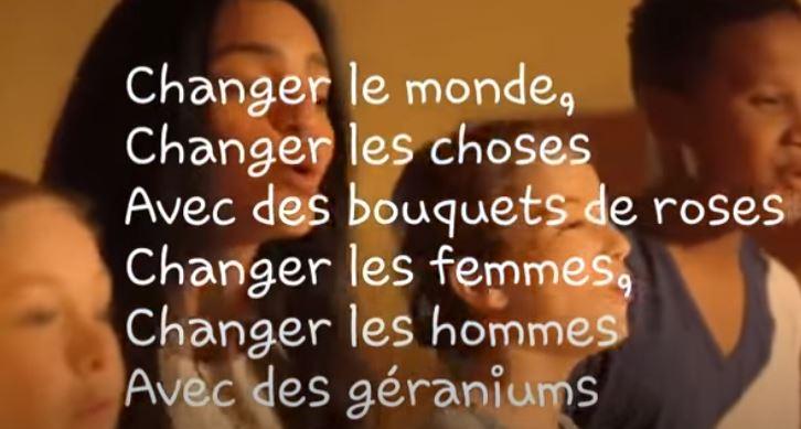 aprender francês com música - le pouvoir des fleurs
