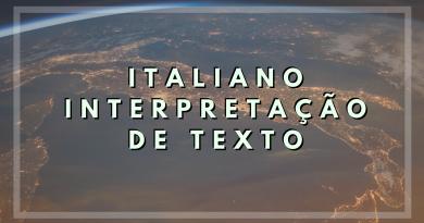 italiano interpretação de texto