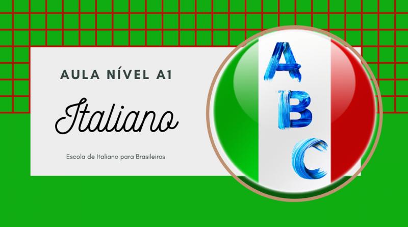 aula de italiano com exercício