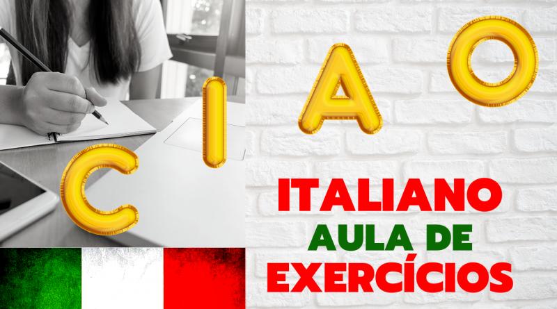 ITALIANO AULA DE EXERCÍCIOS