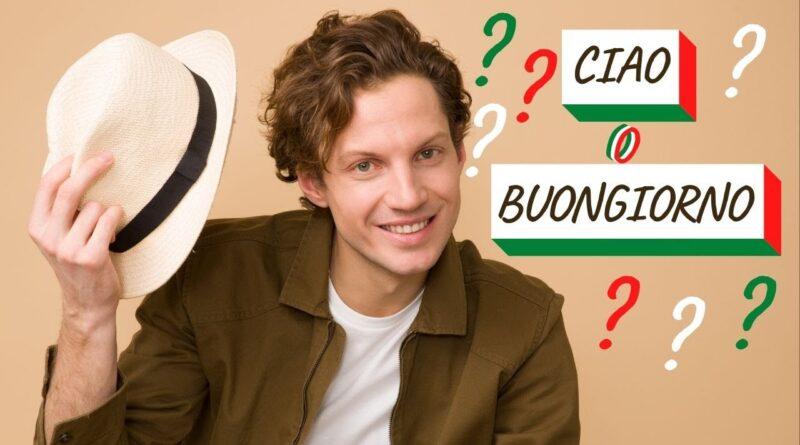 ciao o buongiorno - italiano para iniciantes