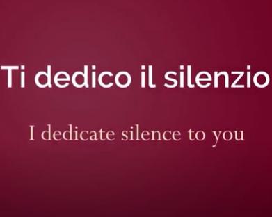 italiano com musica ti dedico il silenzio ultimo