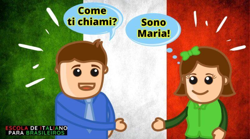 como perguntar o nome de alguém em italiano